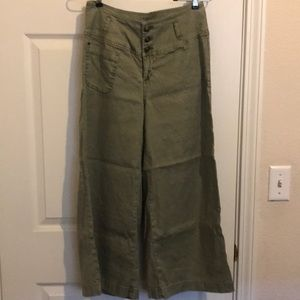 Sundance olive green wide leg pants